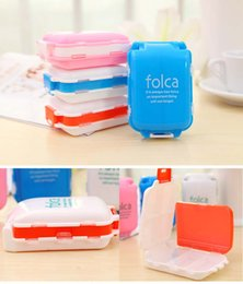 Wholesale Folca Pill Cases Splitters Portable Medicine Storage Boxes Pill Box Tablet Organizer Plastic Compartments for Travel Factory DHL