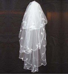 Wholesale High Quality Vintage Ivory Bridal Veils CM Three Layer Tulle Simple Wedding Veils For Wedding Bridal Dress