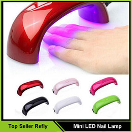 2016 Новый мини LED ногтей Сушилка для ногтей Сушки лампы ногтей машина Art Гель 9W светодиодные отверждения Сушилка