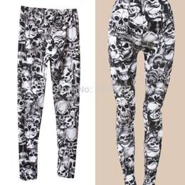 Wholesale New Arrival Brand Fashion Gothic Punk Rock Skull Printed Leggings For Women Girl Leggings Women s Clothing Free QFNrIP