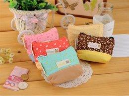 Wholesale Purse Wallets wispy floral zipper Coin purses Color Linen fabric phone MP3 tool storage holder case pouch bag