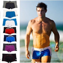 Wholesale Sexy Mens Swimwear Swimsuits Swimming shorts Trunks Plus Size Gay Wear Pouch Wonderjock Sea Surf Wear New Swim Boxer