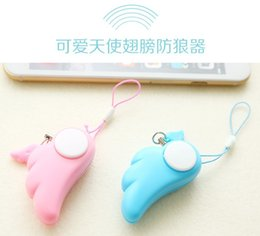 online shopping Angel wings woman Ms Anti rape device self defense electronic SOS alarm phone bag pendant cute