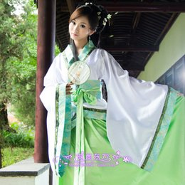 Wholesale The new Han Chinese clothing cosplay costume costume fairy costume improved big swing can dance song imitation garment green
