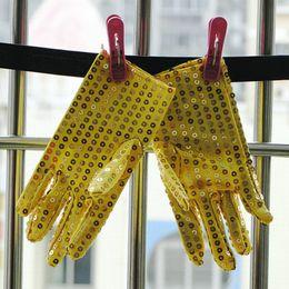 Wholesale Children Girl Boy Dance MJ Dance Gloves Mittens Paillette Show Performance Accessoies ta300s