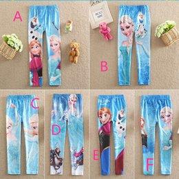 Wholesale Children s Leggings Tights Frozen Elsa Anna Children Girls Legging Snow Queen Olaf Kids Trousers Tights Childs Princess Elsa DHL