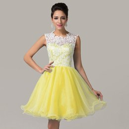 Wholesale Under Cheap Grace Karin Sleeveless Lace Tulle Short Ball Cocktail Dress Evening Prom Party Bridesmaids Dress CL6123