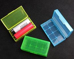 18650 Caja de batería de almacenamiento de la batería de plástico de la batería de almacenamiento de contenedores paquete 2 * 18650,4 * 18350 o 4 * 16340 para ecig mecánico mod batería