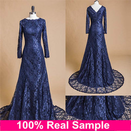 Midnight blue evening dress