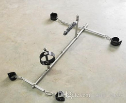 Wholesale 2014 Sex Product Stainless Steel Bondage Frame Dog Slaves Devices Bound Toys BDSM Toys Handcuffs shackles and Ankle Cuffs and Leather Collar