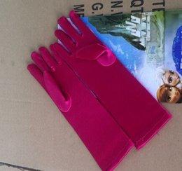 Wholesale Full finger gloves frozen elsa gloves costume Long Blue gloves snow Queen Elsa Cartoon Party Costumes children gloves