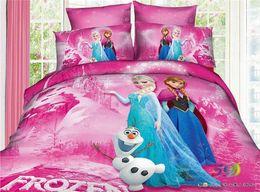 Wholesale a New sets Movie Frozen Anna Elsa Sister Love Twin Quilt Cover Bedding frozen gift frozen pillow design Set Fast Shipping