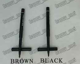 Wholesale ePacket Pieces New Makeup Eyes Rotary Retractable With Vitamine A E waterproof Eyeliner Pencil Black Brown