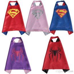 Wholesale Superhero Cape Masks Batman Spiderman Teenage Mutant Ninja Turtle Frozen Flash Supergirl Batgirl Robin kids capes DHL free