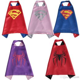 Wholesale Superhero Cape Superman Batman Spiderman Teenage Mutant Ninja Turtle Frozen Flash Supergirl Batgirl Robin kids capes DHL free