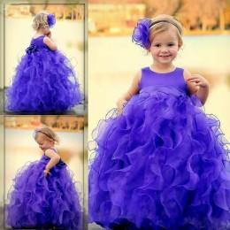 Wholesale Nice Flower Girls Dresses for Weddings Spring New Organza Little Girl Ball Gowns Custom Made Fashion Pageant Gowns