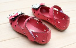 Wholesale Kitty Cat Kids Shoes New Children sandals Kid single shoes Girls Hello Kitty Princess Child Toddler Girl Carton Sandals