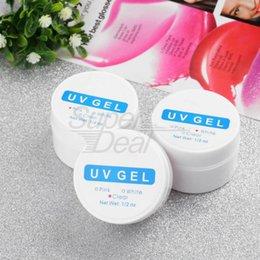 Wholesale 3pcs White Clear Pink Color UV Gel Nail Art Builder Set Tips Salon nail tools