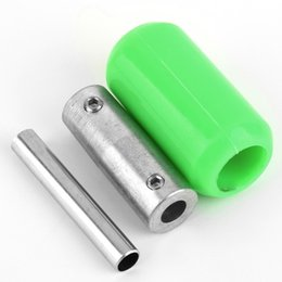 Wholesale 2pcs Tattoo Machine Handle Gun Grip Green Silicone Soft Rubber Tube Back Stem