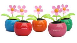 Новое прибытие Автомобильный интерьера Новинка Солнечная Apple, Цветок с Танцы Размахивая подарок 5 цветов Бесплатная корабль