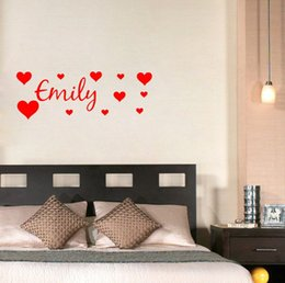 Discount Wall Decals Names Hearts PERSONALISED NAME WITH HEART wall decals vinyl stickers home decor living