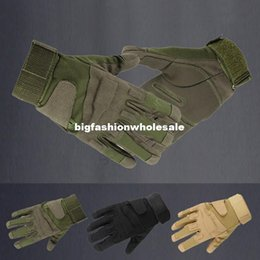 Wholesale Blackhawk Tactical Gloves Army Full Finger Gloves Airsoft Combat Gloves Hunting Training Motorcycle Camping Gloves
