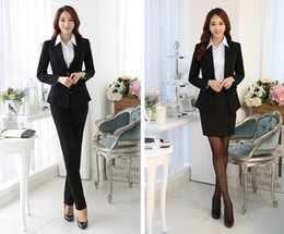 Wholesale Business attire women s suit ms cultivate one s morality interview outfit suits business suit tooling work clothes