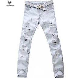 Discount Knee Hollow Ripped Jeans   2017 Knee Hollow Ripped Jeans