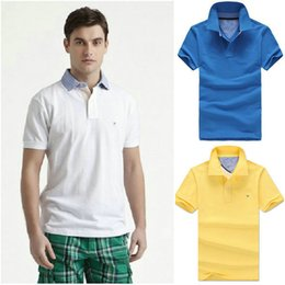 Wholesale good quality male polos famous brand new men s cotton Tee shirt M XXL A30 SHIRTS