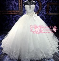 Wholesale New Arrival Bridal White Lace Wedding Dress Wedding Gown HS0457