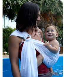 Wholesale 10 Baby Pool Shower Water Sling Breathable Net Baby Swimming Carrier Quick dry Baby carriers slings DDA3022