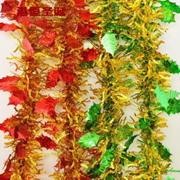 Dress Decorate Christmas Items 200 9 Cm Machetes Bold Big Leaves Decorations Striped 30g Supplies Natal Snowflake Crafts Hanging Party Suppl