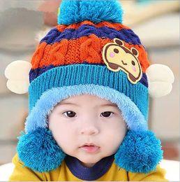 2017 baby adult cap hat Fashion Baby Kid Skull Cap Infant Hats Kids Cap Boys Girls Wool Cap Baby Crochet Hats Children Caps Knitted Beanie Hats cheap baby adult cap hat
