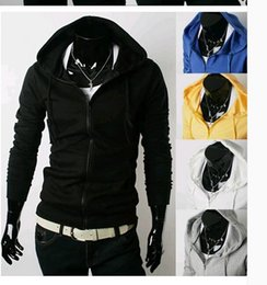 Wholesale New Arrival men s sweater Korean version of spring and foreign trade stayed fleece hooded long sleeved short coat