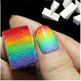 Wholesale 50lots Creative Nail Art Equipment Simple DIY Change color Sponge Creative Nail Tools Gel Nail Manicure pieces