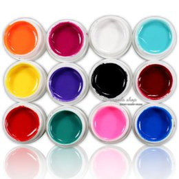 Wholesale 12 Mix Pure Solid Color UV Builder Gel Set for Nail Art False French Tips