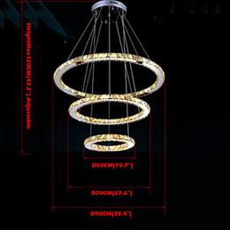 luxury led amber crystal pendant lights lamps ceiling chandeliers lighting lamp fixtures with 3 rings d507090cm amber pendant lighting for sale amber pendant lighting