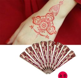 Wholesale 100 New Natural Henna Tattoo Art Paste Temporary Tattoo red