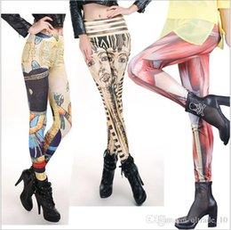 Wholesale 2015 sexy color women printed leggings leather leggings thin high waist female leggings Slim galaxy Jeggings tights Pants TOPB2964