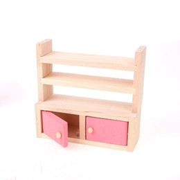 discount dollhouse furniture for kids pink wooden toy mini furniture kitchen for decorating dollhouse playing for affordable dollhouse furniture