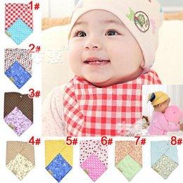 Wholesale 10pcs Triangle Boy Girl Feeding Cloth Baby Bibs Burps Baby Pinafore Cotton Infant Bibs KK0036