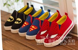 Wholesale HIGH Quality Superman Spiderman Batman classic shoes years old baby shoes children s shoes casual shoes kids shoes pairs ZL