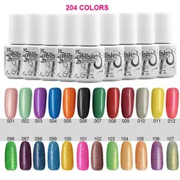 Wholesale 10PCS Top Quality Long lasting Colors soak off gel polish nail UV gel lacquer varnish for gelish nail polish uv gel Colors ml