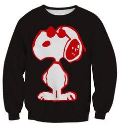 Wholesale NEW Sport Suit Women Snoopy Printed Sweatshirt Hoodies Pullover woman sport clothes men punk casual hoody