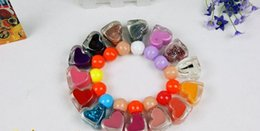 Wholesale 24pcs New Cute Heart Design Bright Glitter Colors Nail Polish Nail Varnish ml For Nail Art MINI Packaging