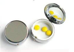 Wholesale 50PCS Round Metal Pill Organizer Box of Medicine DIY Silver Color Boxes Free Ship