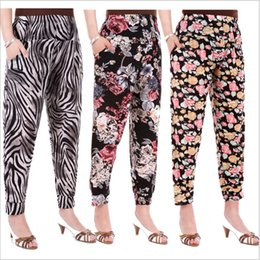 Wholesale 2015 hot Middle aged old women mother haroun pencil pants Summer points knickerbockers Leopard zebra dot leggings tights TOPB2848