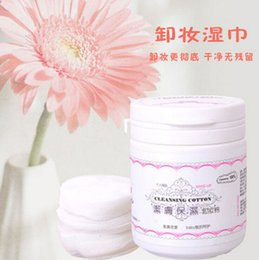 100pcs / bag removedor de maquillaje toallitas de limpieza facial herramientas belleza limpieza de alta calidad de algodón aceite envío gratuito