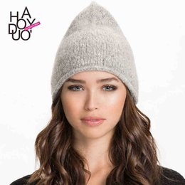 Wholesale 1504 new women elelgant ear production cap fashion dome cap warm casual solid cap for and haoduoyi