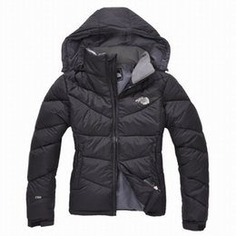 Wholesale S XXL New Fashion Women Spring Autumn Hooded Down Jacket Coat Outdoor Waterproof Keep Warm Lady Outerwear Winter Coat Christmas gift